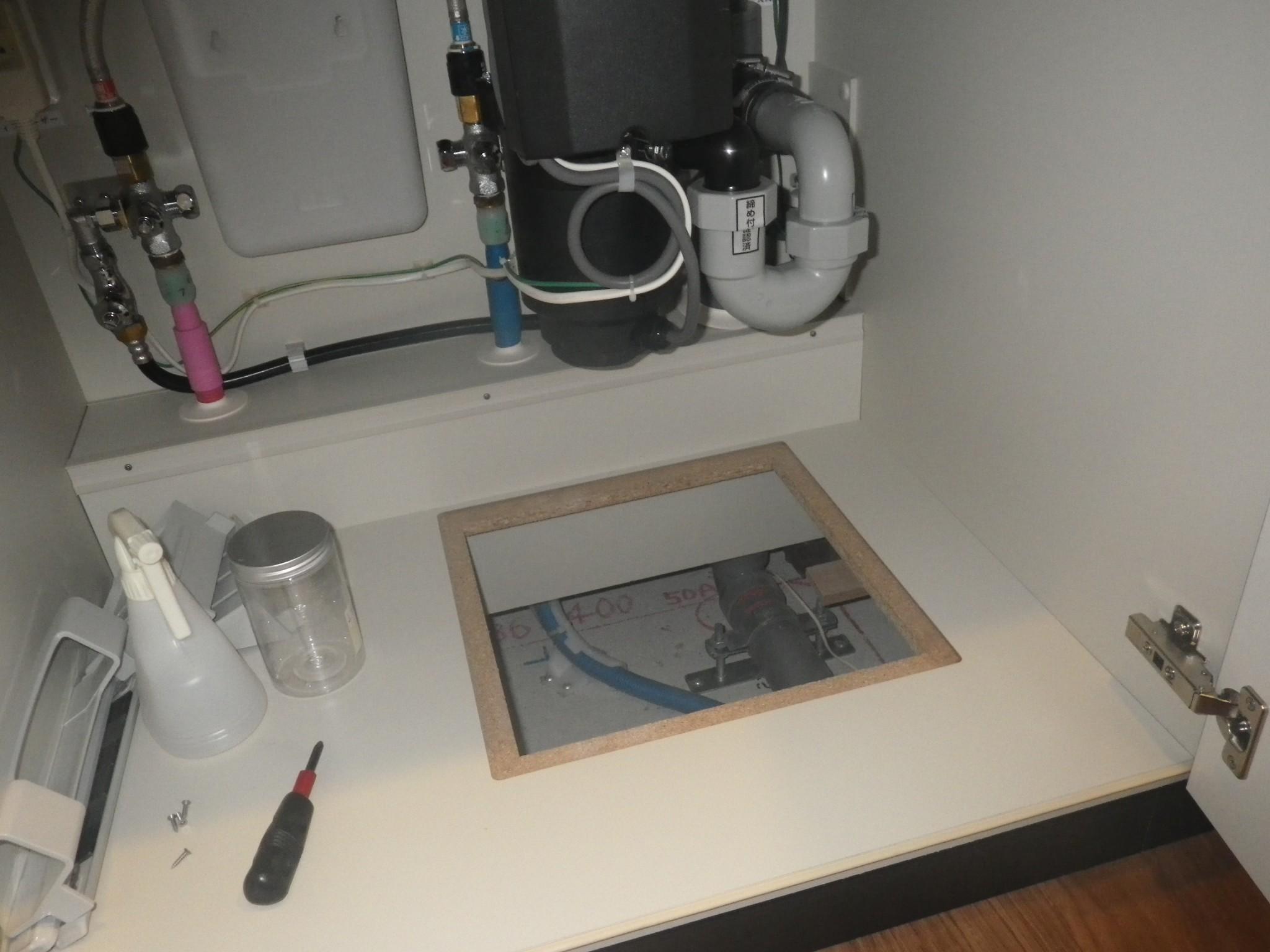 床下で水漏れしていたマンション