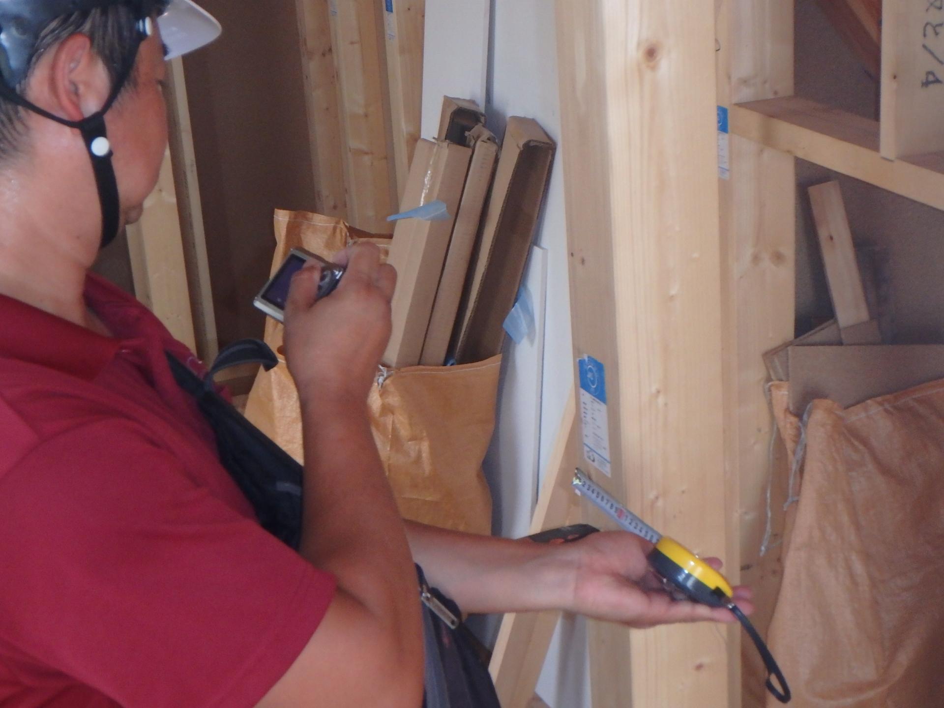 柱、梁の寸法をチェック